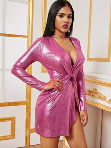 Metallic Twist Party Dress