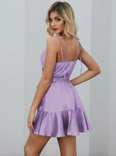 Load image into Gallery viewer, Purple Belted Mini Dress