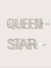 Load image into Gallery viewer, Queen Star Rhinestone Hairpin