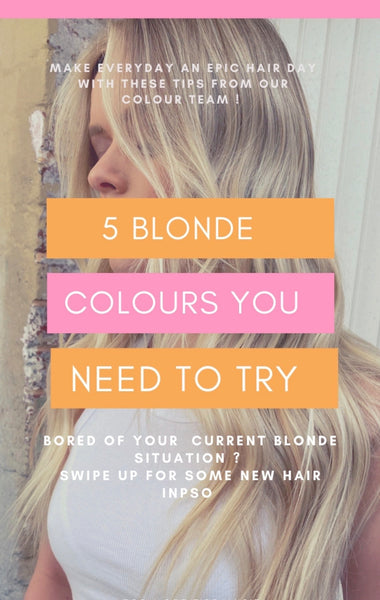 5 blonde colours you need to try if you're bored of your current !