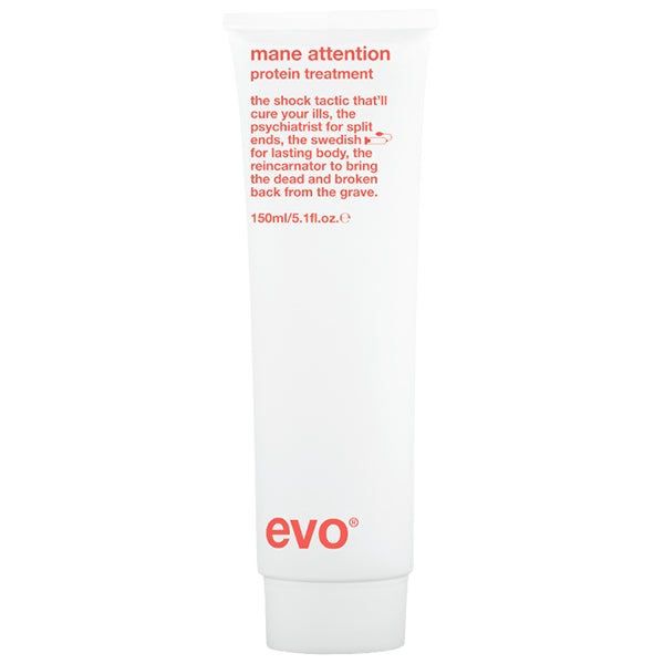 Evo Mane Attention Protein Treatment to help hair grow faster bottle close-up