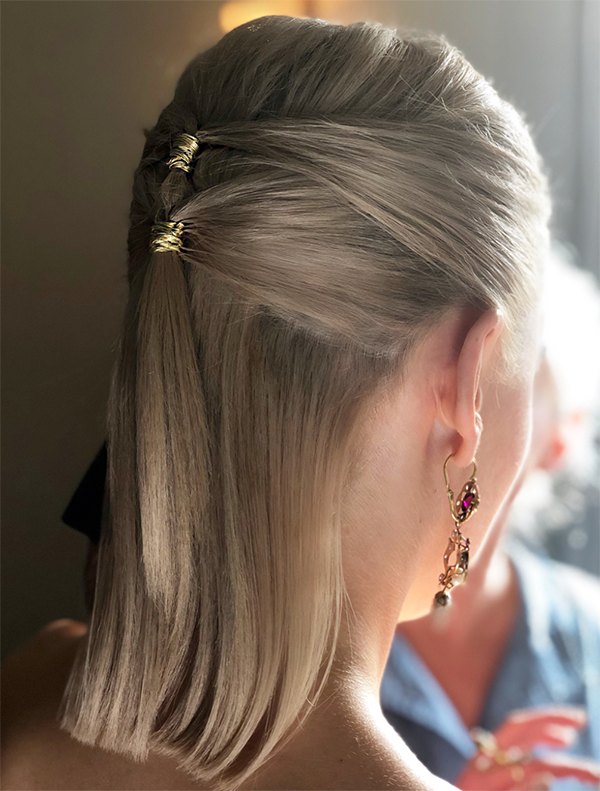 The half updo with a twist | viva la blonde