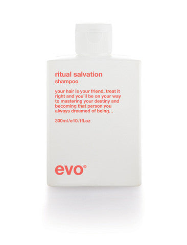 Evo Ritual Salvation hair shampoo on whitebackground available at Viva La Blonde