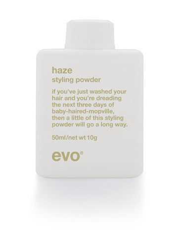 Evo Haze styling powder on white background available at Viva La Blonde