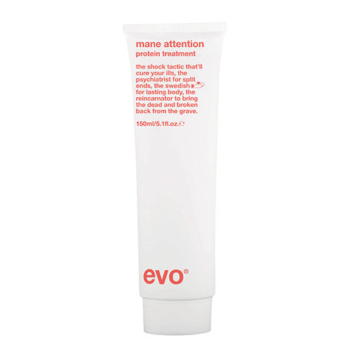 Evo Mane Attention protein hair treatment on whitebackground available at Viva La Blonde