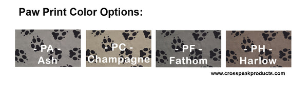 Custom Paw Print Dog Seat Cover Color Options