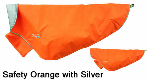 blaze orange rain coat for dogs