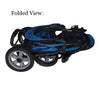 Pet Gear AT3 all-terrain pet stroller folded up