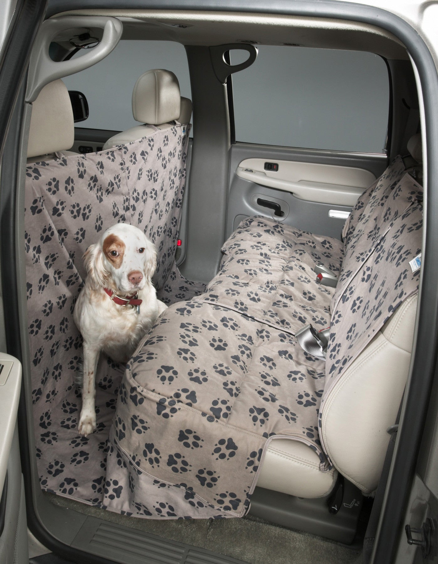 Covercraft Canine Covers Rear Seat Protector In Paw Print