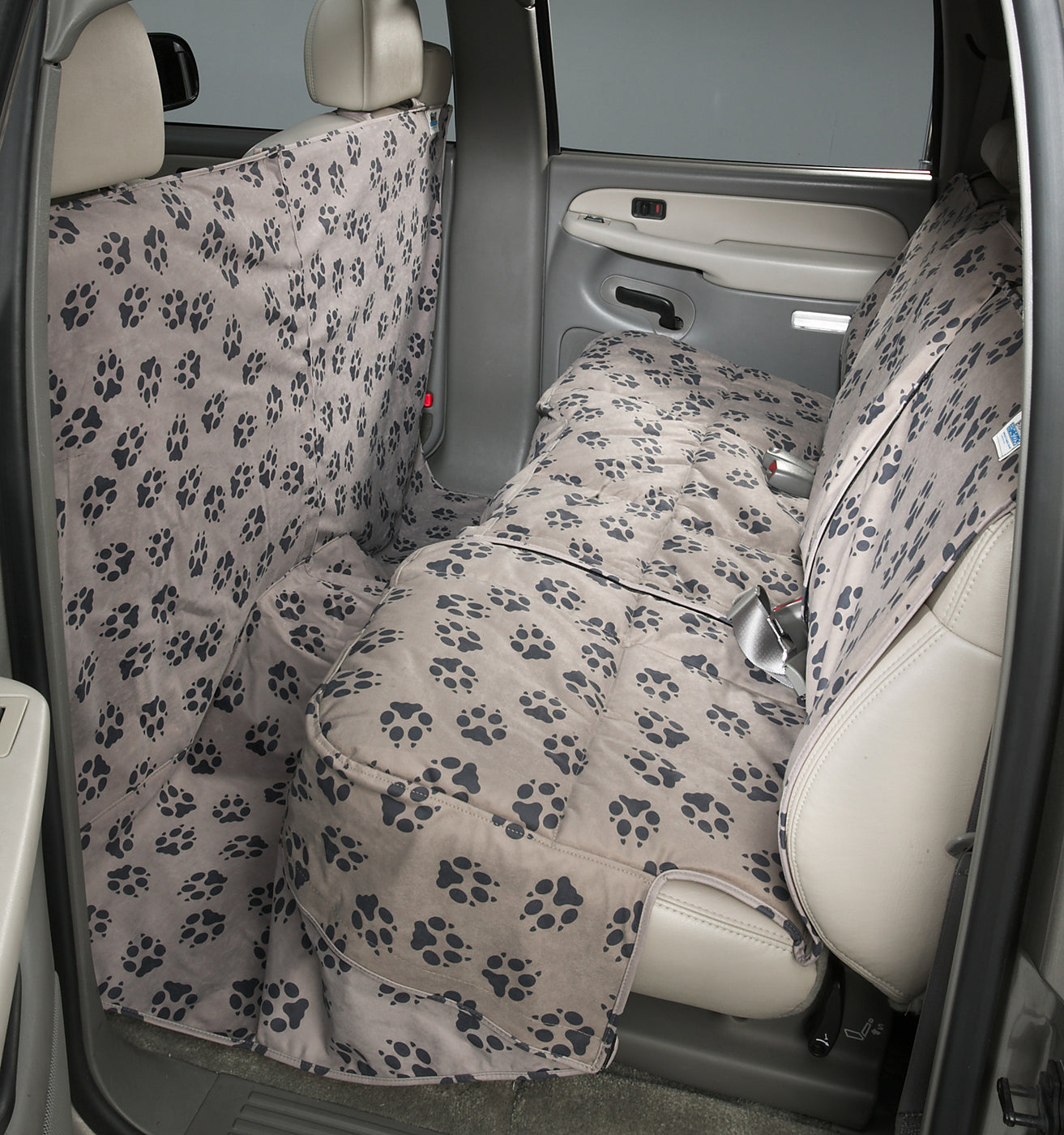 Canine Covers Custom Paw Print Dog Seat Cover