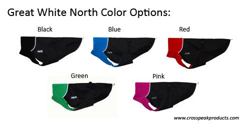 Great White North Whippet Winter Coat Color Options