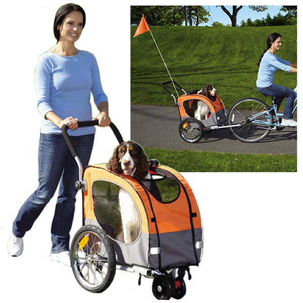 2-in-1-guardian-gear-cross-trainer-dog-stroller-bike-trailer-orange