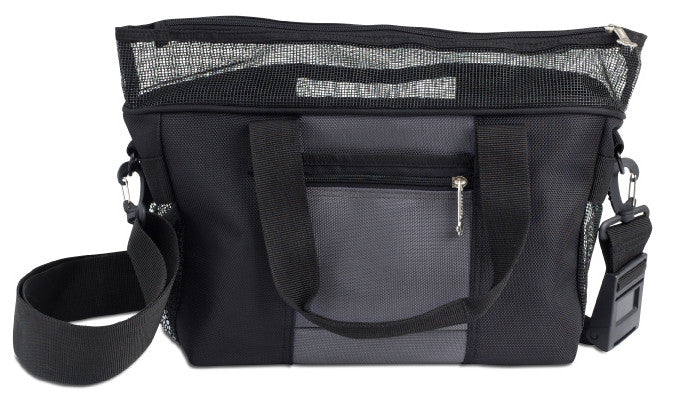 Doggles Denier Messenger Bag for Dogs In Gray