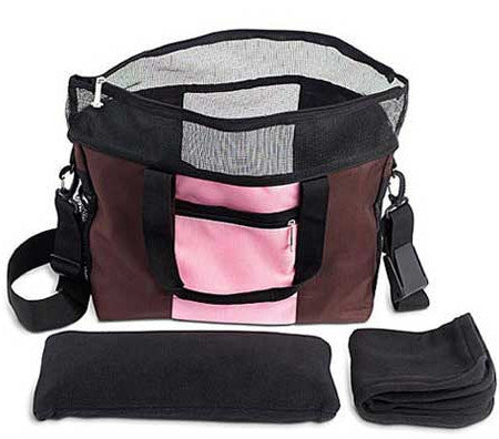 Doggles Denier Messenger Dog Carrier Bag Interior Items