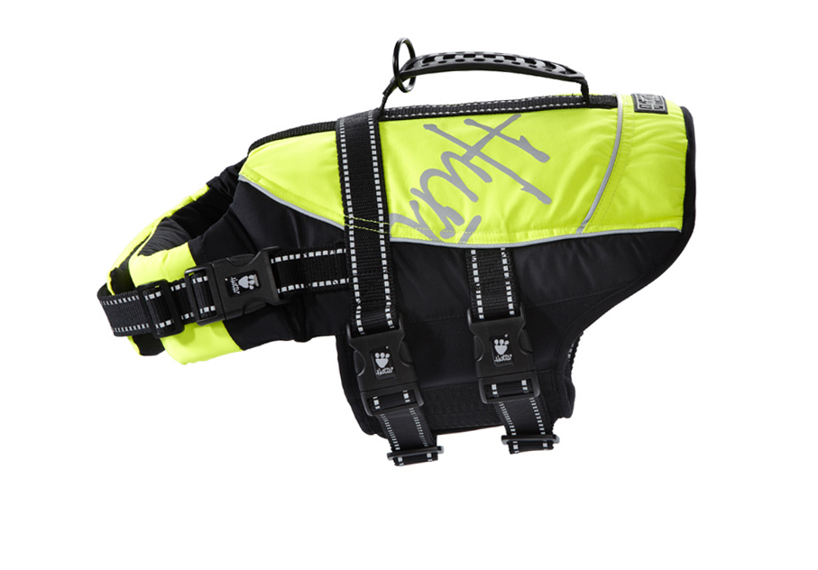 Hurtta Yellow Hurtta Dog Life Jacket and Floatation Device