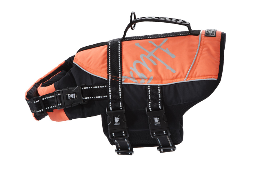 Orange Hurtta Dog Life Jacket for Swimming, Boating & Water Activities