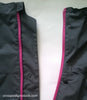 zipper view of dog rain jacket