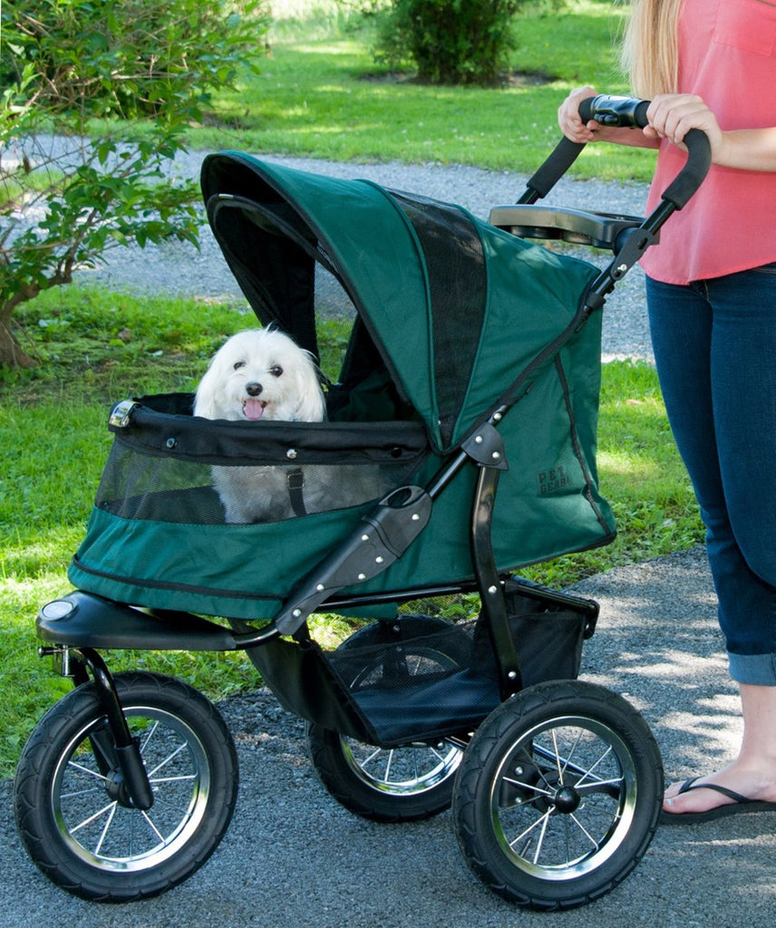 Jogger No-Zip Pet Stroller by Pet Gear in Forest Green