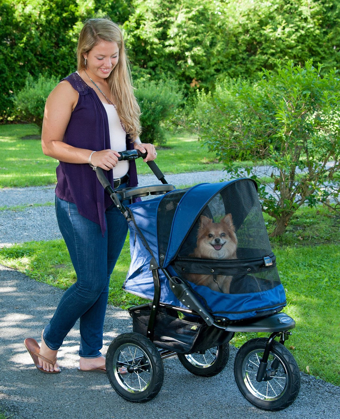 ad3d2cf028b Pet Gear Jogger No-Zip Pet Stroller for Jogging   Running with Dogs ...