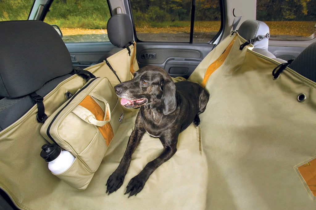 Khaki Kurgo Wander Hammock Vehicle Seat Cover for Pets