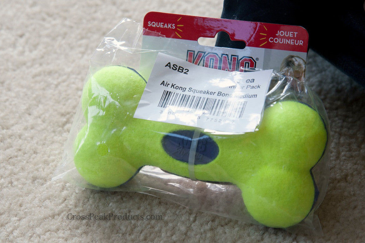 Kong Air Squeaker Bone Dog Toss Toy