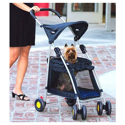 Walking Dog in Kyjen Outward Hound Walk N Roll Top Flap Dog Stroller