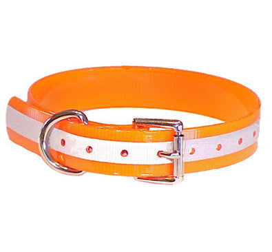 Mendota Reflective Orange Dog Collar