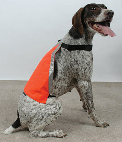 Mendota Visibility Dog Vest in Blaze Orange for Hunting, Hiking & Outdoors