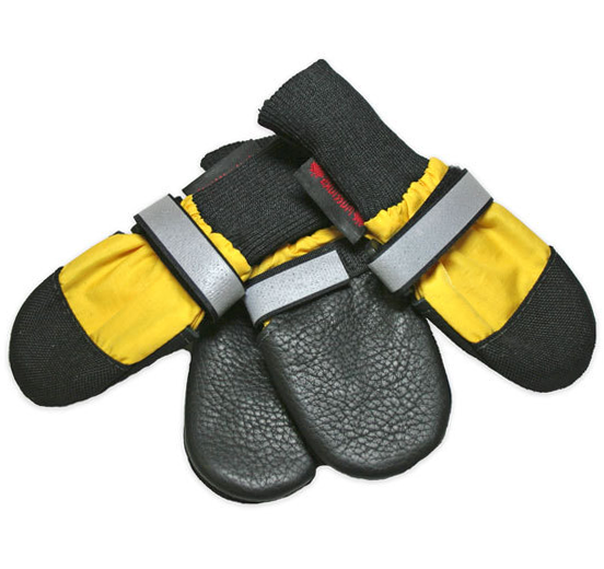 Muttluks All Weather Dog Boots in Yellow for Paw Protection