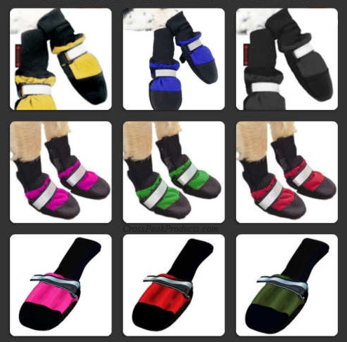 Color Options for Muttluks Dog Boots Fleece-Lined for Cold Weather