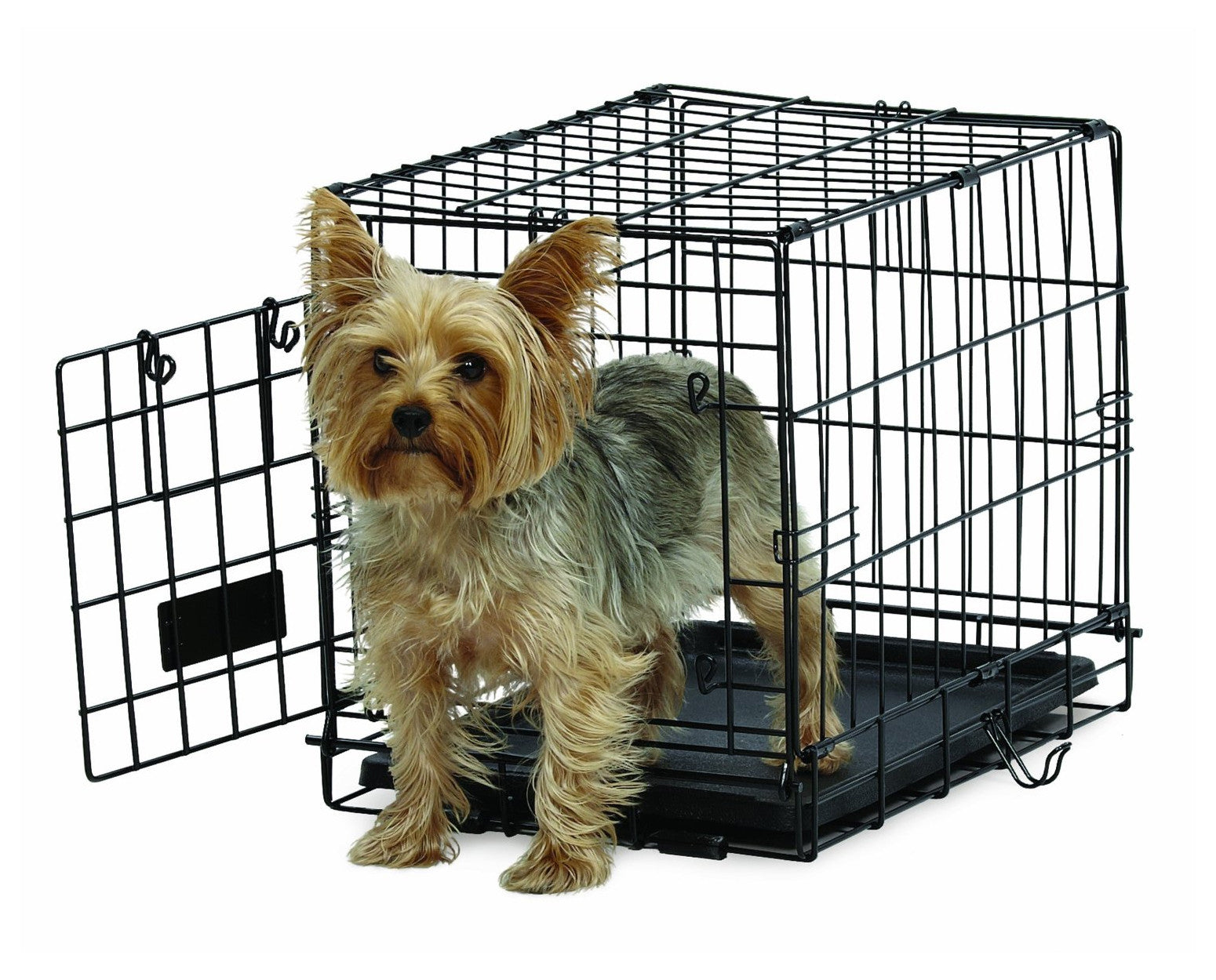 Midwest Life Stages Ace Wire Dog Crate Folding Single Door Cross