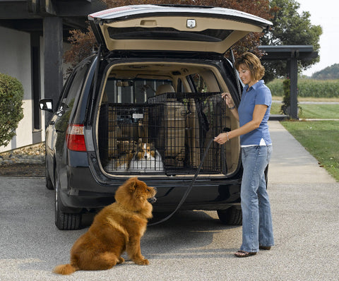 Midwest Side By Side Double Door Suv Dog Crate With Plastic Pan