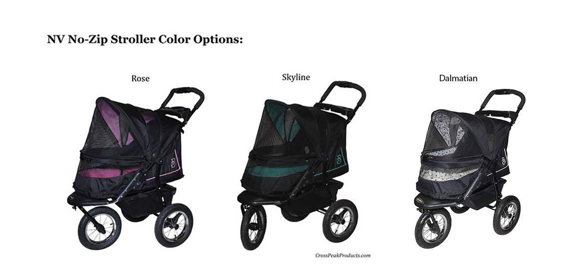Pet Gear NV Pet Stroller Skyline, Rose & Dalmatian Colors