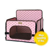 Pink PetZip Lookout Dog Car Seat for Small Pets