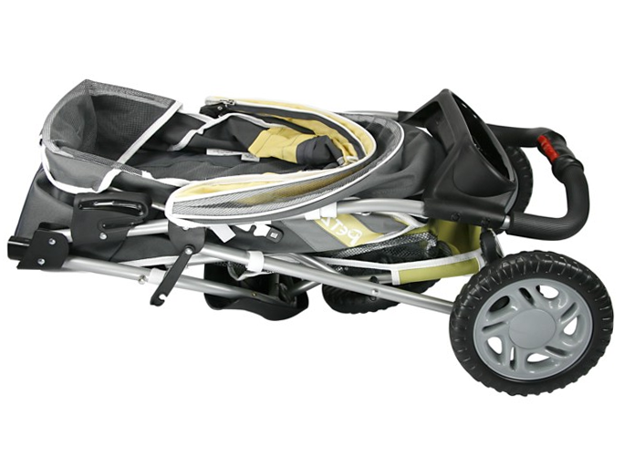 Folded Up Dog Jogging Stroller by PetZip