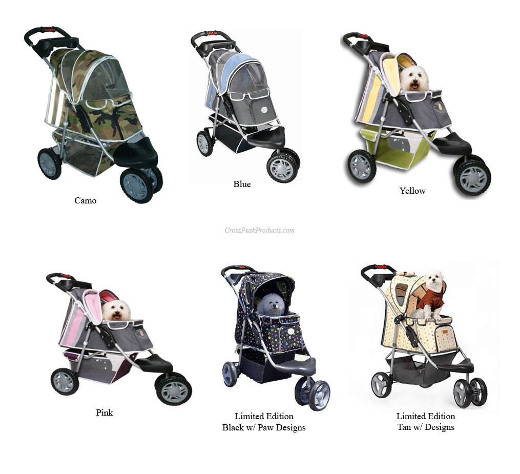 Color Options of PetZip 1st Class Jogging Stroller for Dogs
