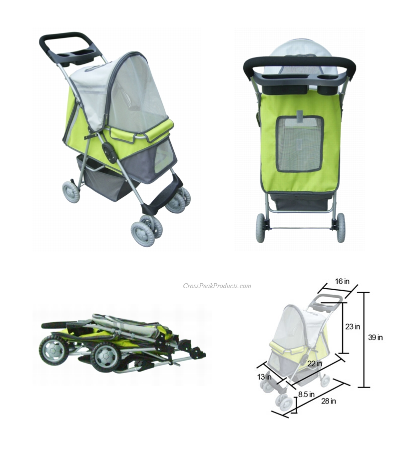 Multiple Views of Sports XL Pet Stroller for Small Dogs