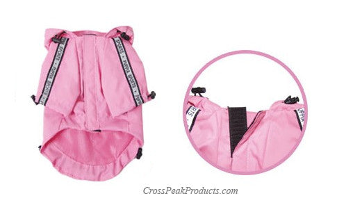 Waterproof Pink Jumper Dog Rain Coat for Rainy Conditions