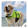 Paws Aboard Neon Yellow Dog Life Jacket