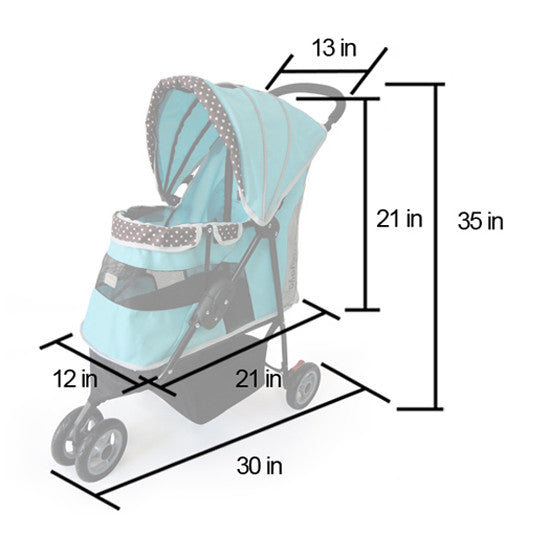 PetZip I-Cute Pet Jogging Dog Stroller Measurements