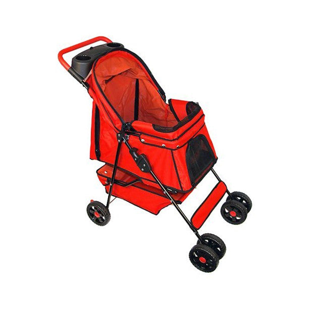PetZip Walkie Dog Stroller in Red