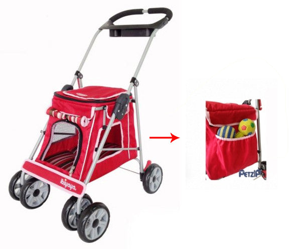 PetZip City Elite Jogger Pet Stroller in Red