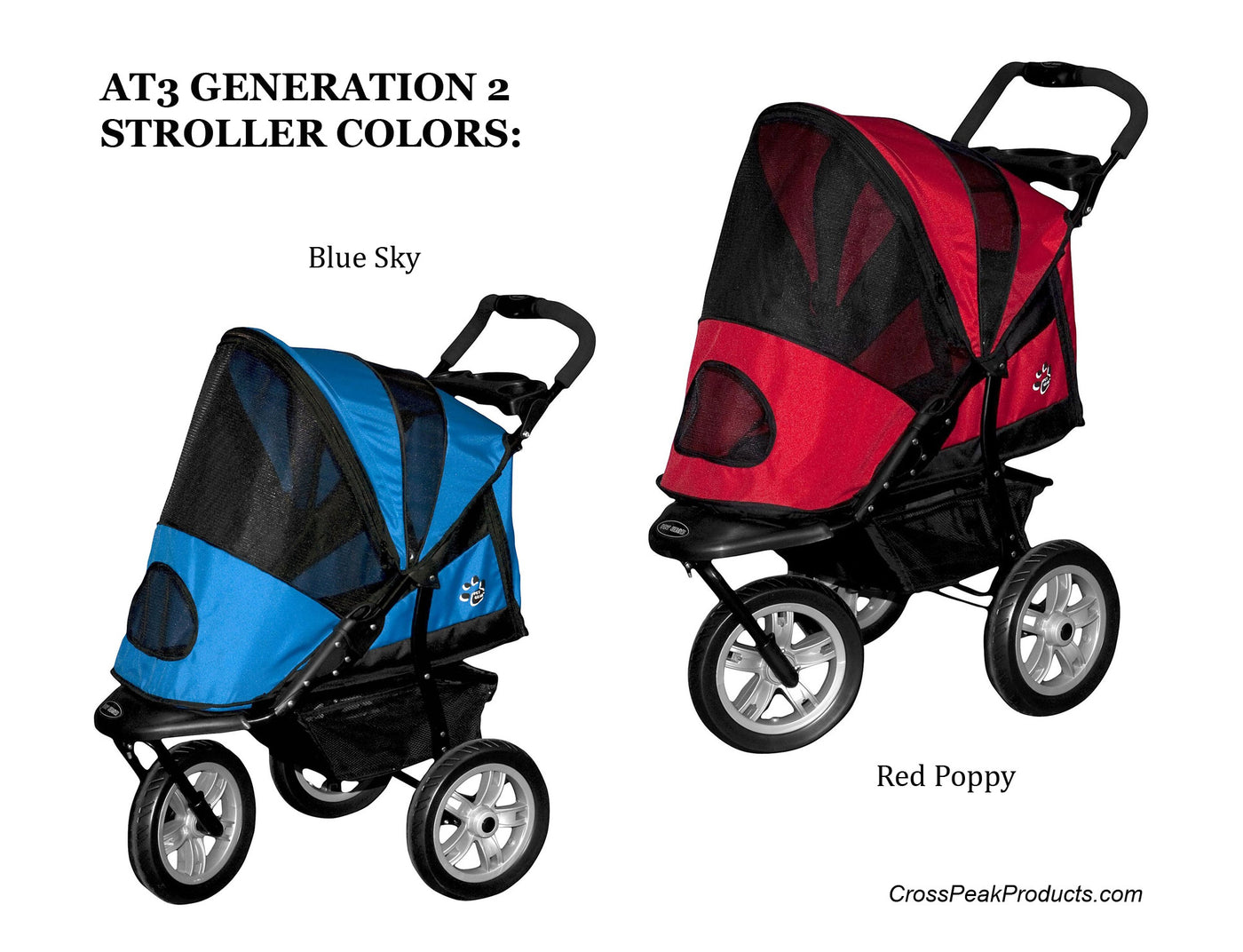 Pet Gear AT3 Dog Stroller Color Options