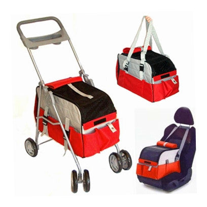 Dog Stroller, Carrier & Car Seat All in One Images