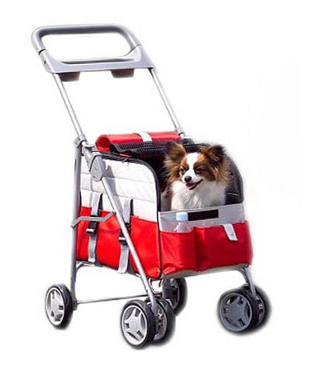 PetZip 3 in 1 Versatile Dog Stroller, Pet Carrier & Car Seat in Red