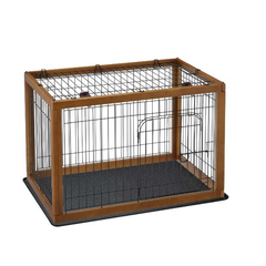 wood dog crate by richell