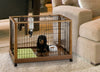Dog in Richell Wood Mobile Dog Crate & Pet Pen 640