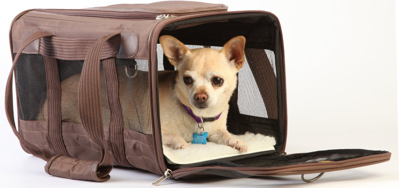 Brown Sherpa Deluxe Airline Approved Dog Carrier