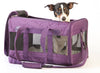 Purple Sherpa Pet Deluxe Airline Approved Dog Carrier & Car Seat with Puppy
