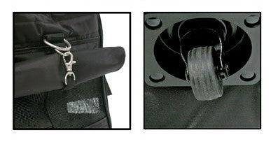 Wheel & Clip View of Sherpa Pet Dog Carrier